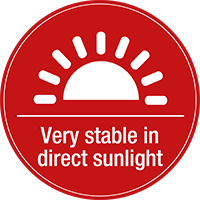 Very stable in direct sunlight